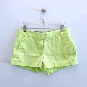J. Crew Broken-in Chino Shorts Neon Yellow Lime